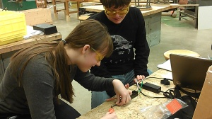 Soldering electric components