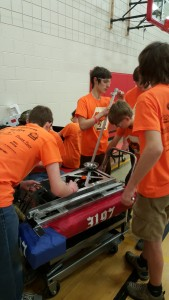 Fixing the bot between matches at the mini regional.